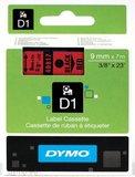 DYMO S0720720 labelprinter-tape Zwart op rood_