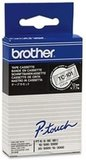 Brother Labeltape 12mm zwart op transparant_