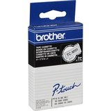 Brother Labeltape 9 mm zwart op transparant_