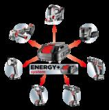 Sterke Multifunctionele Gereedschaptas, Energy+ 58G015 GRAPHITE_