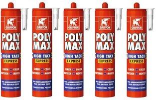 5 STUKS POLYMAX GRIFFON / BISON 435GR WIT HIGH TACK EXPRESS