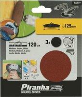 Piranha Schuurschijf 125 mm zelfhechtend klittenband 120K 3 stuks X32077