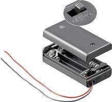 Penlite (2x) batterij houder met schakelaar