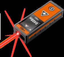 NEO afstandmeter 40m, touch screen met laser
