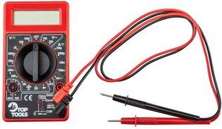 Digitale Multimeter incl. 9 Volt batterij rood