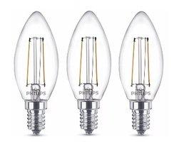 Philips LED-kaarslampen Classic filament 25 W 250 lumen 3 stuks