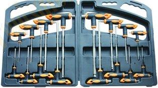 Torx / inbus sleutel set T-grip 16 delig VDT