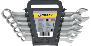 TOPEX Ring/steeksleutelset 6-19 mm