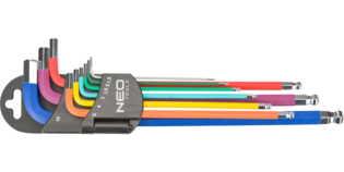 NEO Inbusset 1,5-10 mm, Gekleurd