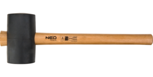 NEO Rubberen hamer 250 gram, USA Hickory