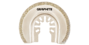 GRAPHITE Multitool CERAMISCH Blad 65 mm Half Rond