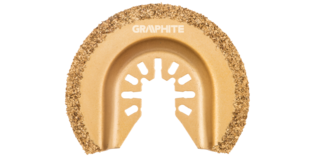 GRAPHITE Multitool CERAMISCH Blad 64 mm Half Rond