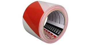 Afzetlint Rood Wit 80 mm x 100 m