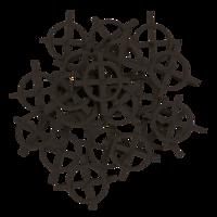 TOPEX Tegelkruisjes 2.0 mm zwart, 100 stuks