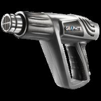 Verf afbrander / hete lucht pistool, regelbaar - GRAPHITE