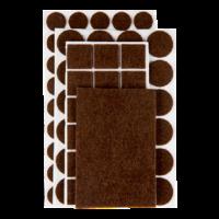 Zelfklevend beschermvilt bruin assortiment pakket