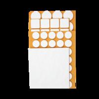 Zelfklevend beschermvilt wit assortiment pakket