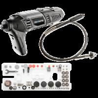 Mini Slijpmachine 170 Watt + 190 Accessoires in koffer (Dremel) - GRAPHITE