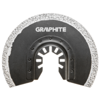 GRAPHITE Multitool Diamant Blad 85 mm Half Rond