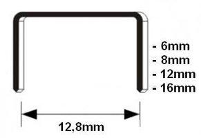 Nieten voor meubeltacker 8 mm