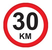 Maximum snelheid 30 km/h Bord. Rond 300 mm