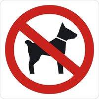 Verboden voor Honden Bord. Rond 300 mm