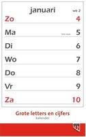Kalender 2020 Quantore met grote letters en cijfers