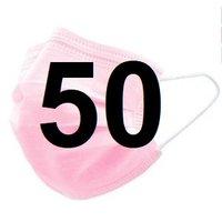 Mondkapjes 3 Laags FFP2. Met CE Certificaat. 50 stuks roze