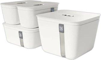 Vacuvita Vacuum Container Set Wit - 4 delig