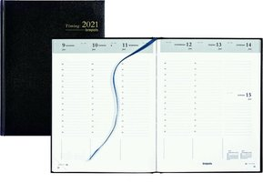 Brepols Bureau Agenda 2021 - Timing -  Lima zwart (17,5 x 23 cm)