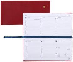 Zakagenda 2021 - Memoplan 7 zachte kaft liggend BORDO (9cm x 15cm)