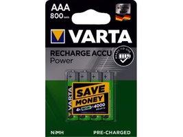 Oplaadbare batterijen AAA 4 stuks varta