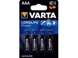Varta batterijen AAA 4 stuks