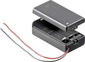 9 volt batterij houder met schakelaar