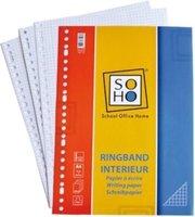 Soho Ringbandpapier Ruit 5x5 mm 23-rings A4 Papier Wit 100 Stuks