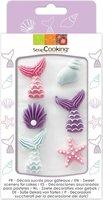 Scrapcooking Suikerdecoraties - Zeemeermin - Set/6