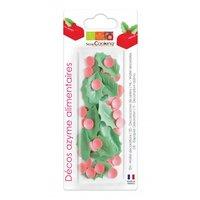 ScrapCooking Wafel decoratie papier  Hulst Kerst - Set