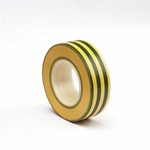 Isolatietape Geel / Groen 19 mm x 10 m
