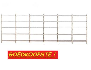 Massief Houten Basis Stelling 210 x 600 x 50 cm Goedkoopste !