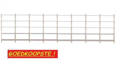 Massief Houten Basis Stelling 210 x 800 x 50 cm Goedkoopste !